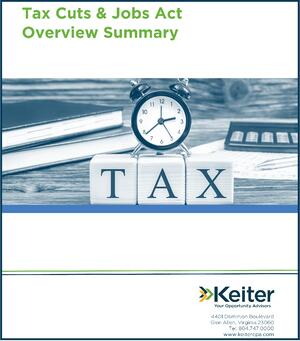 Tax Cuts Jobs Act Tax Changes - Keiter CPA